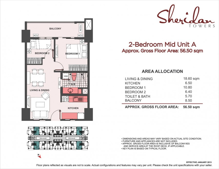 2-Bedroom Mid Unit A 56.7sqm