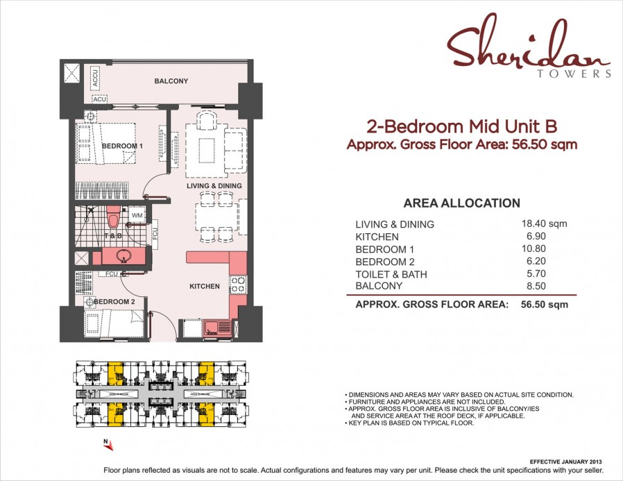 2-Bedroom Mid Unit B 56.7sqm
