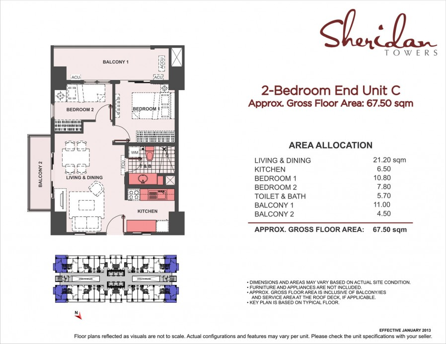 2-Bedroom End Unit C 67.5sqm