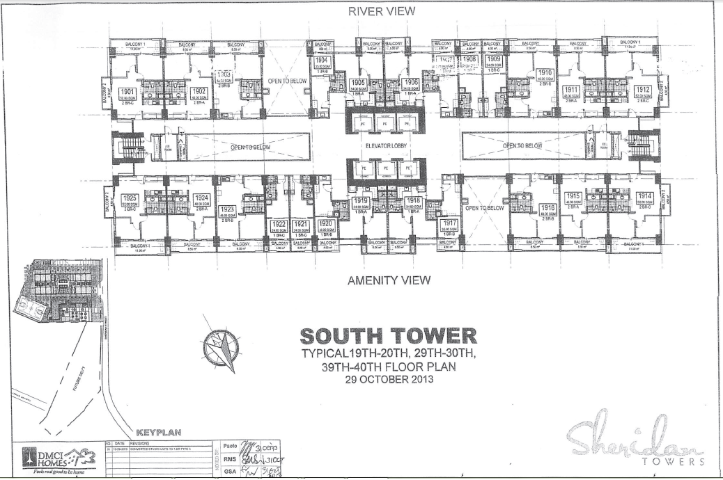 Building design sheridan towers for Beach house tower plans